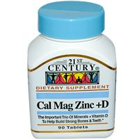 Добавка Cal Mag Zinc + D от 21st Century Health Care