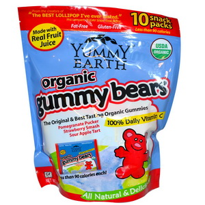 Yummy Earth, Organics, Gummy Bears