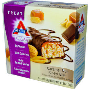 Atkins, Endulge, Caramel Nut Chew
