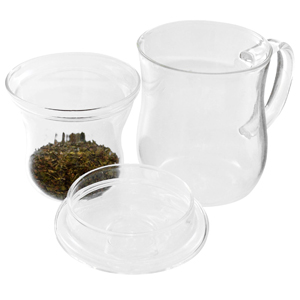 Glass Tea Cup with Strainer