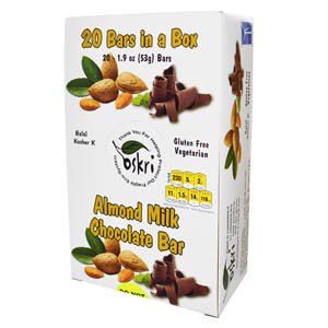 Oskri Organics, Almond Milk Chocolate Bar