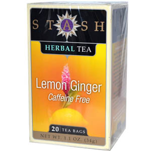 Stash Tea Company, Premium, Lemon Ginger Herbal Tea