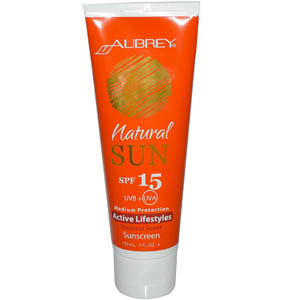 Aubrey Organics, Natural Sun, Active Lifestyles, Tropical Scent Sunscreen