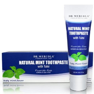 Dr. Mercola, Natural Mint Toothpaste with Tulsi, Fluoride-Free