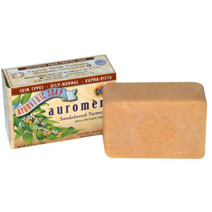 Auromere, Ayurvedic Herbal Soap, Sandalwood-Turmeric with Neem