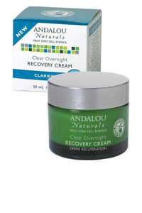 Andalou Naturals, Clear Overnight Recovery Cream, Clarifying