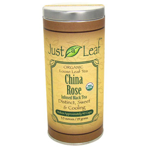 Just a Leaf Organic Tea, China Rose Infused Black Tea