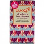 Pukka Herbs, Organic Super Fruity Tea, Elderberry Echinacea
