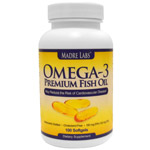 Madre-Labs,-Omega-3-Premium-Fish-Oil,-180-mg-EPA120-mg-DHA,-100-Softgels