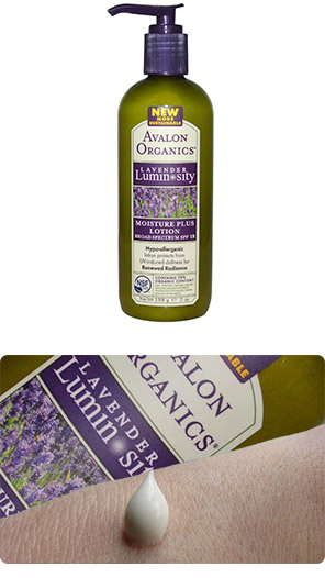 Avalon Organics, Moisture Plus Lotion, Broad Spectrum SPF 15, Lavender Luminosity , 7 oz (198 g)