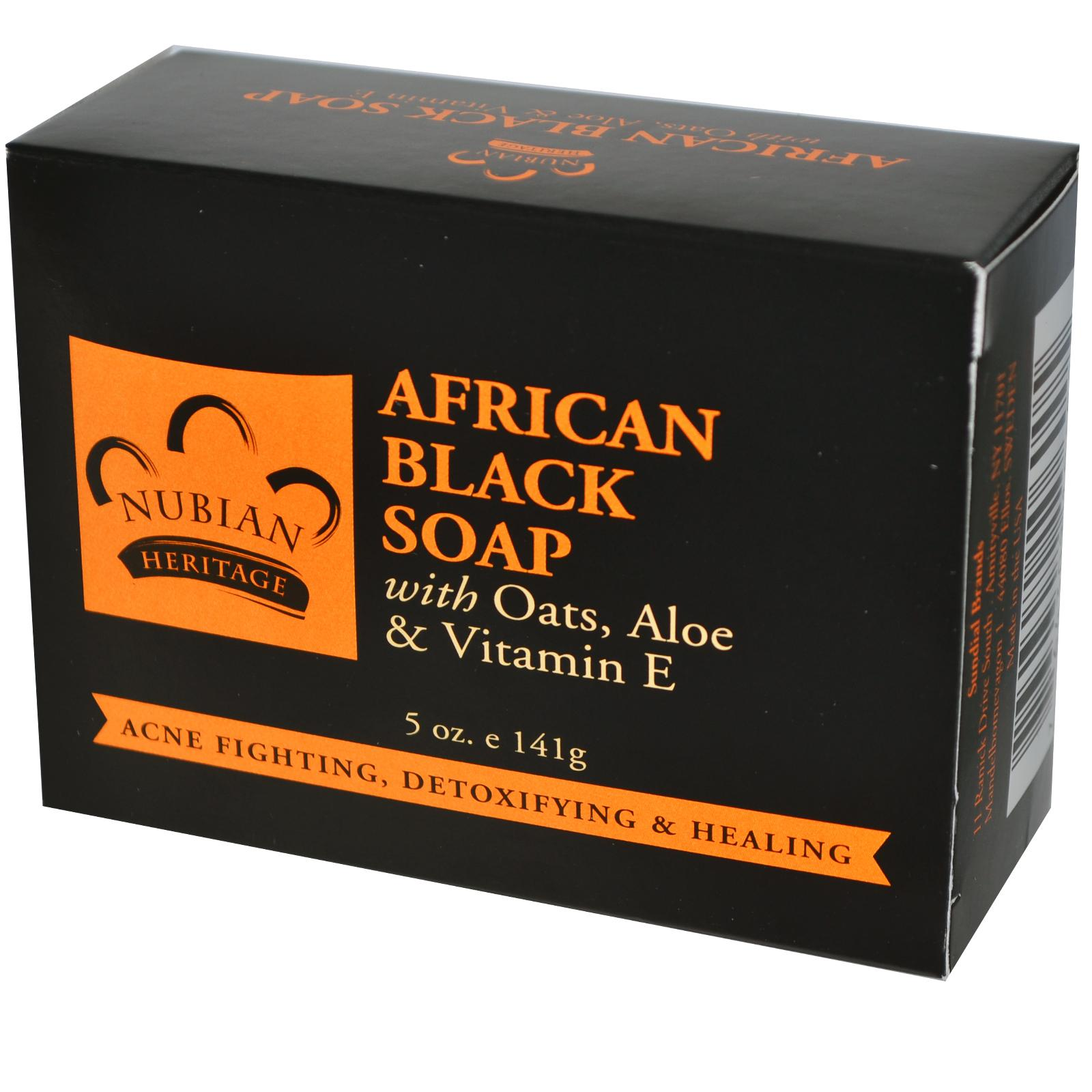 Мыло Nubian Heritage, African Black Soap Bar