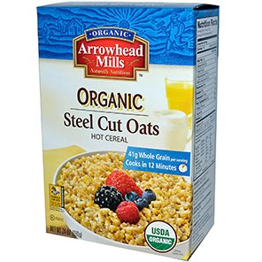 Arrowhead Mills, Organic Steel Cut Oats, Hot Cereal, 24 oz (680 g)