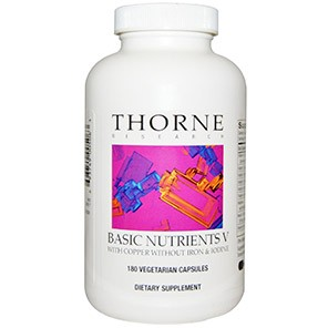 Thorne Research, Basic Nutrients V, 180 Veggie Caps