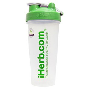 iHerb Goods, Blender Bottle with Blender Ball, Green, 28 oz