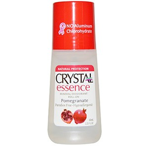 Crystal Body Deodorant, Crystal Essence, Mineral Deodorant Roll-On, Pomegranate, 2.25 fl oz (66 ml)