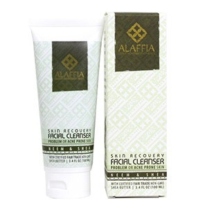 Alaffia, Skin Recovery Facial Cleanser, Neem & Black Soap, 3.4 fl oz (100 ml)