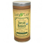 Just a Leaf Organic Tea, Emerald Mandarin Infused Green Tea