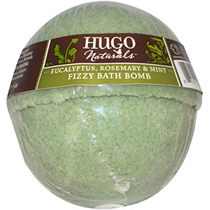 Hugo-Naturals,-Fizzy-Bath-Bomb,-Eucalyptus,-Rosemary-&-Mint,-6-oz-(170-g)