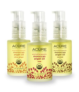 Acure Organics, Aromatherapeutic Moroccan Argan Oils Trio Set, Coconut, Rose, Citrus Ginger