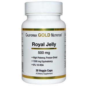 California-Gold-Nutrition,-Royal-Jelly,-500-mg,-30-Veggie-Caps