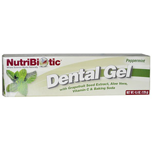 NutriBiotic, Dental Gel, Peppermint, 4.5 oz (128 g)
